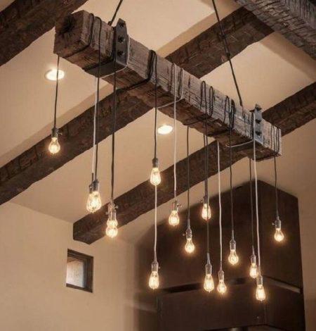角材の照明DIY