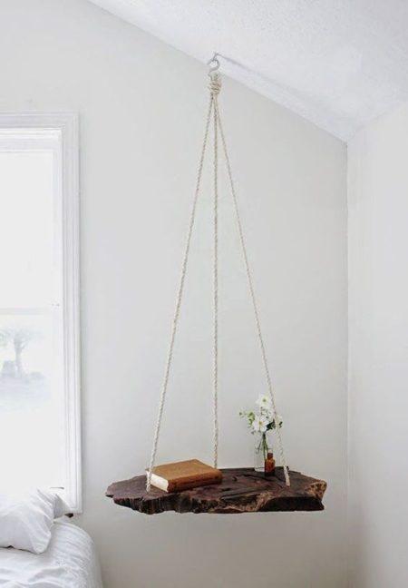 木と紐の吊り下げDIY