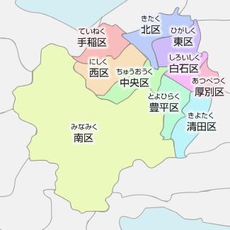 札幌市の地図