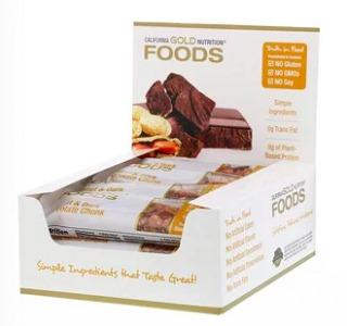 California Gold Nutrition(カリフォルニアゴールドニュートリション)ピーナッツ&ダークチョコレートチャンクバー