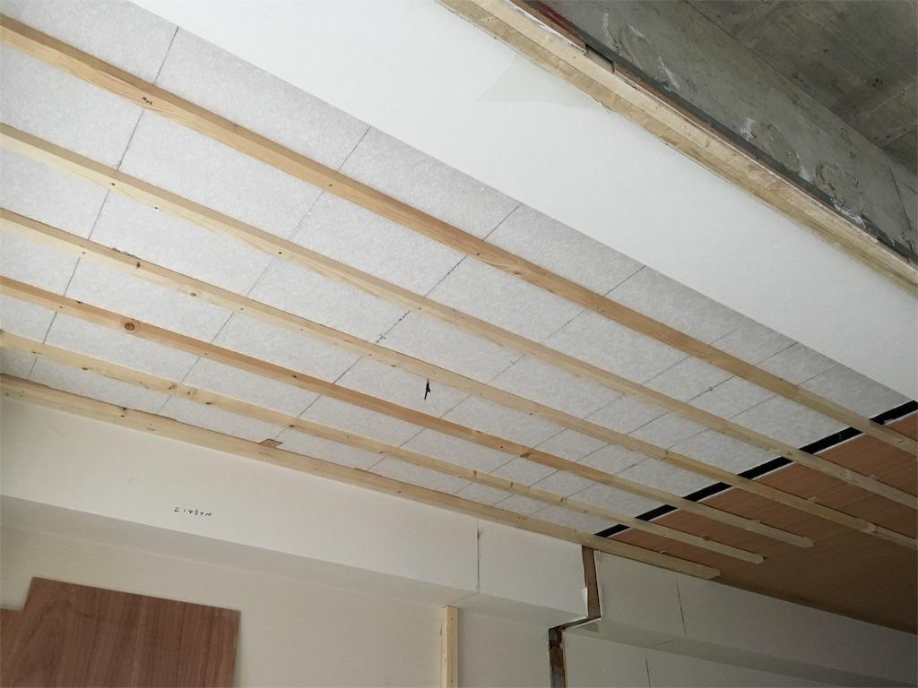 ボードが貼られる前の天井の下地