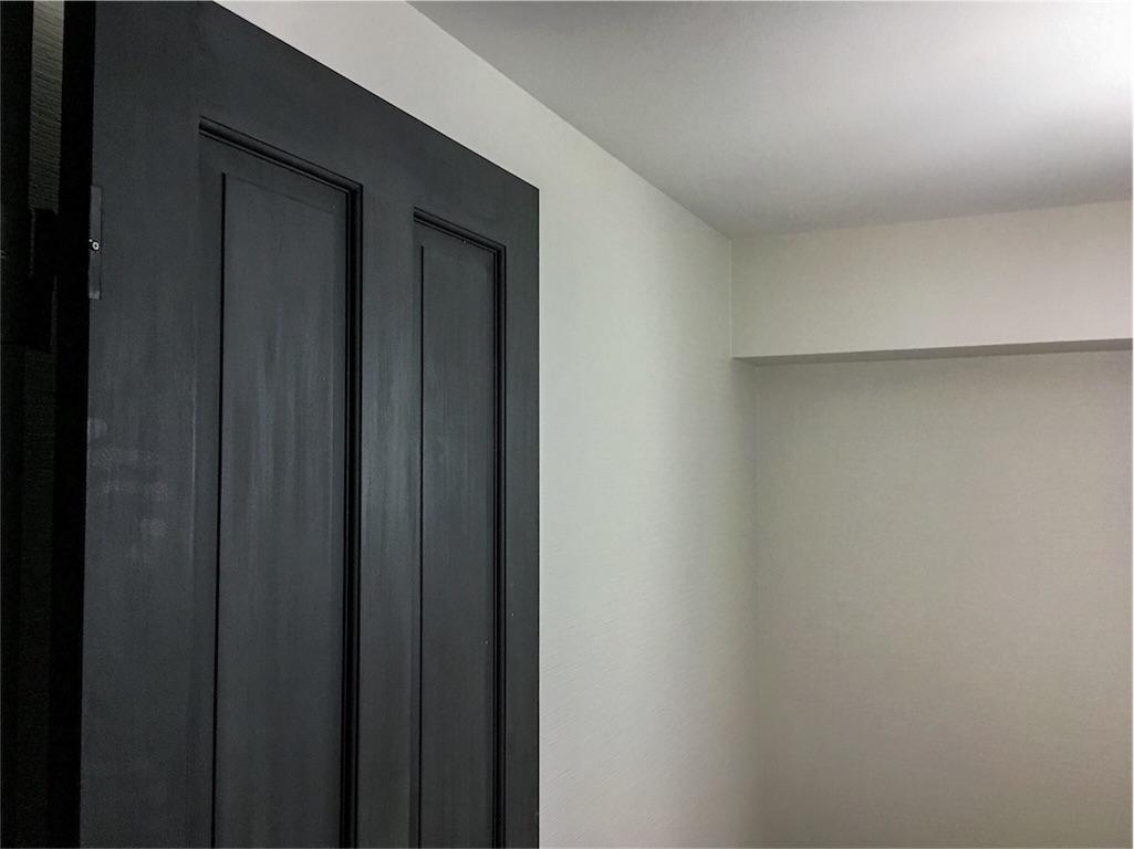 新設したドアと仕事部屋のクロス