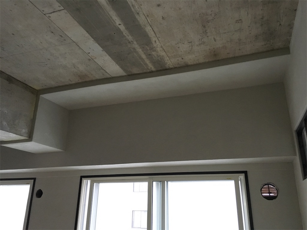 ゼオライトで綺麗に塗られた天井の一部