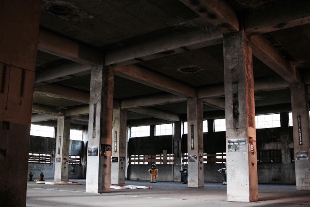 旧住友赤平炭鉱抗口浴場の建物内