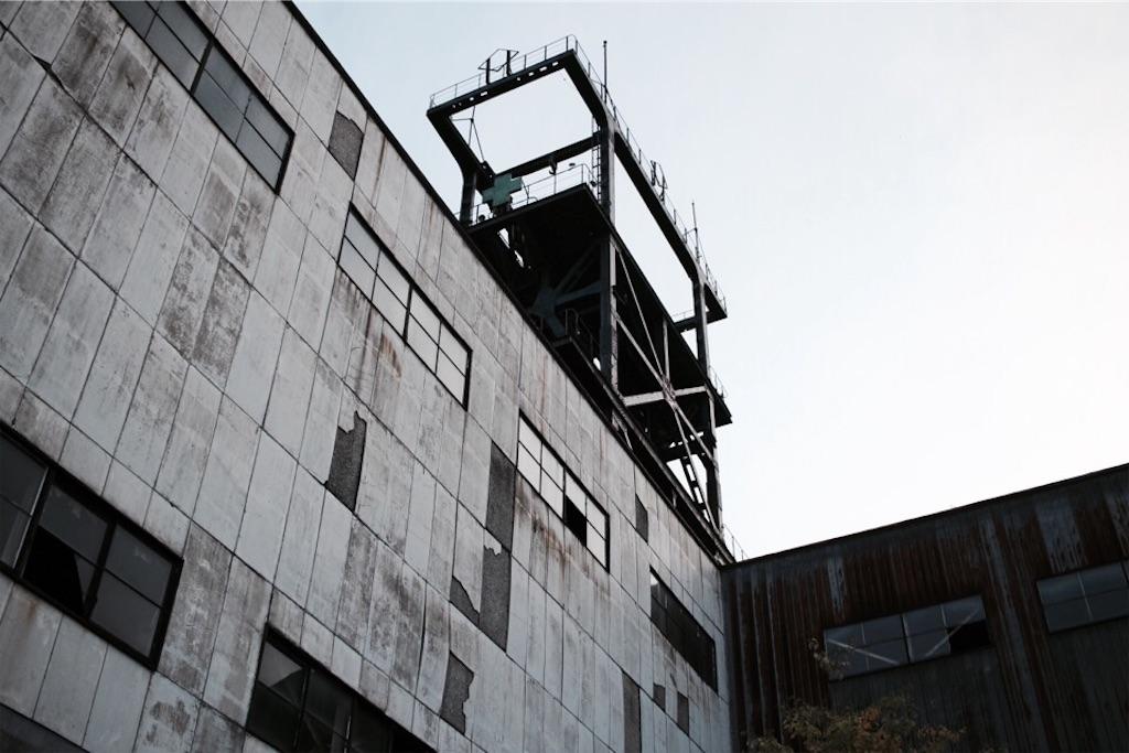 旧住友赤平炭鉱立坑の外観