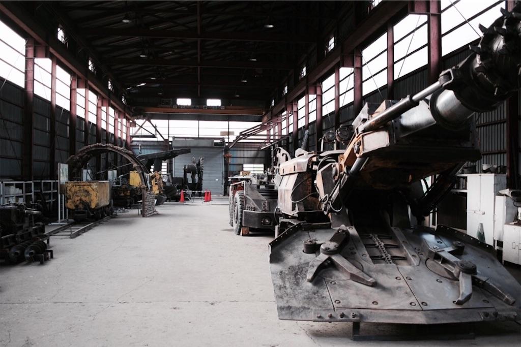自走枠整備工場入口