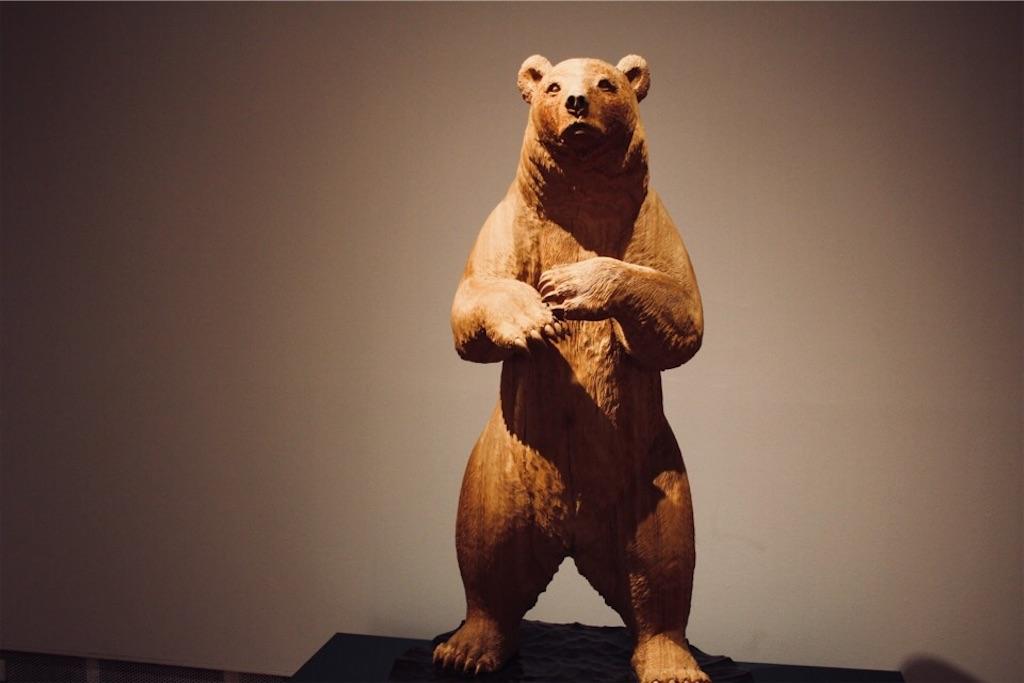木彫作家・藤戸竹喜さんによる熊の木彫り