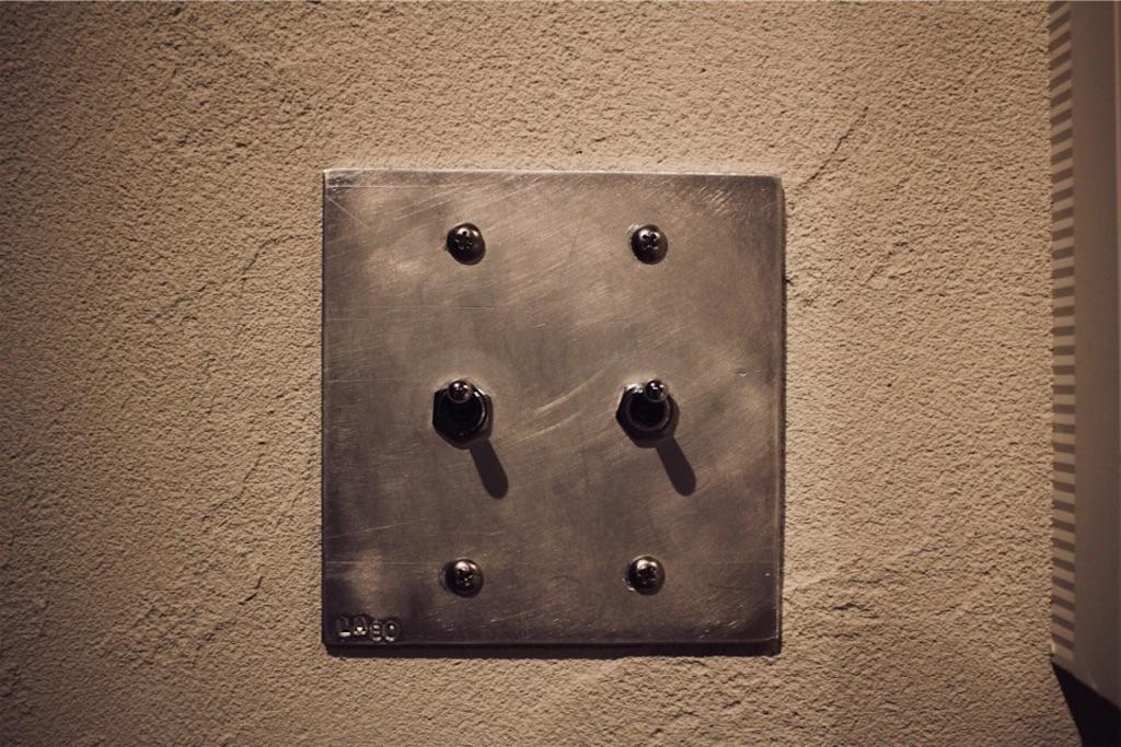 金属製のトグルスイッチ