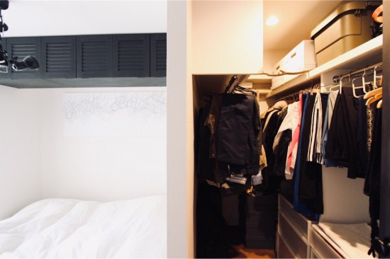 寝室に造ったWIC(ウォークインクローゼット)