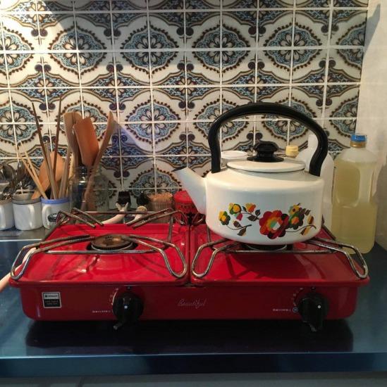 セルフリノベーションのキッチン