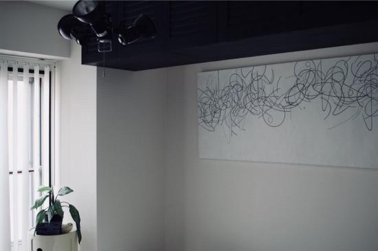 寝室の油絵