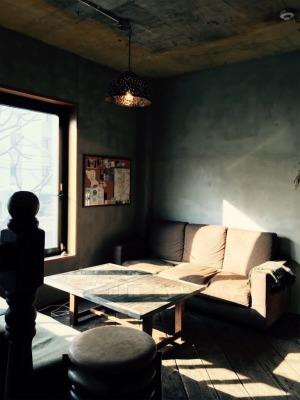 UNTAPPED HOSTEL2Fのゲスト専用リビングルーム