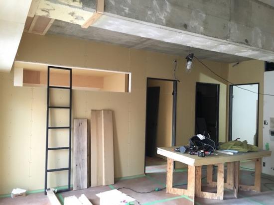 マンションリノベーション・室内窓の造作工事