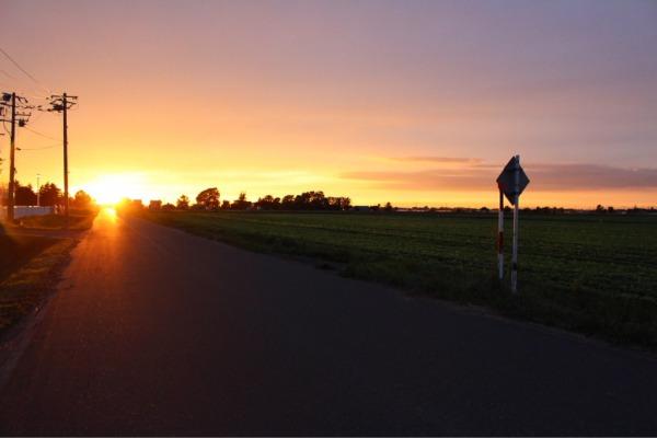 長沼の夕日