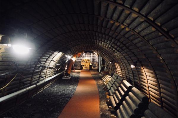 旧北炭夕張炭鉱天竜坑跡(実際の採炭現場)