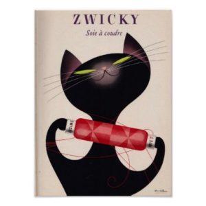 Donald Brunが書いたZwicky Yarnのポスター