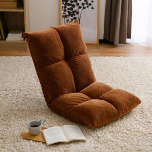 ブラウンの座椅子