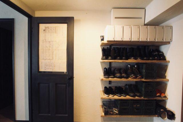 アナハイムアーカイブボックスを使った靴収納と玄関