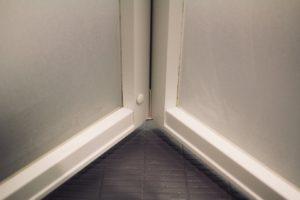 お風呂のドア折戸掃除後
