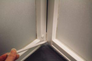 お風呂のドア折戸掃除前
