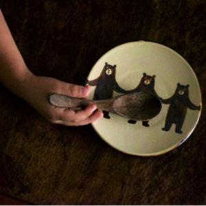 ぼくたちクマ5寸皿