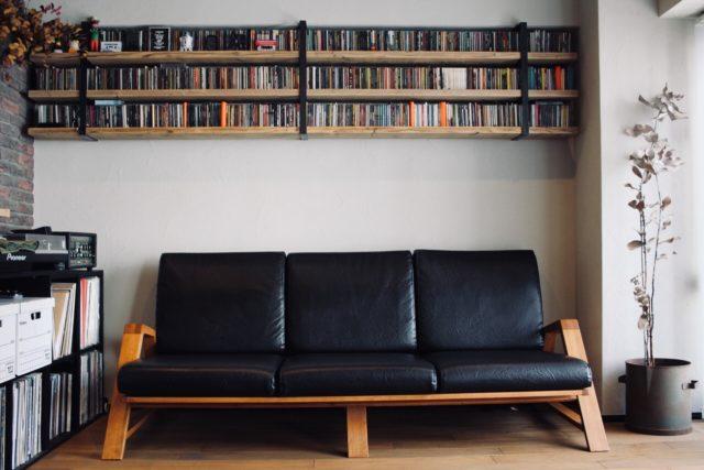 足場板 × アイアンの飾り棚