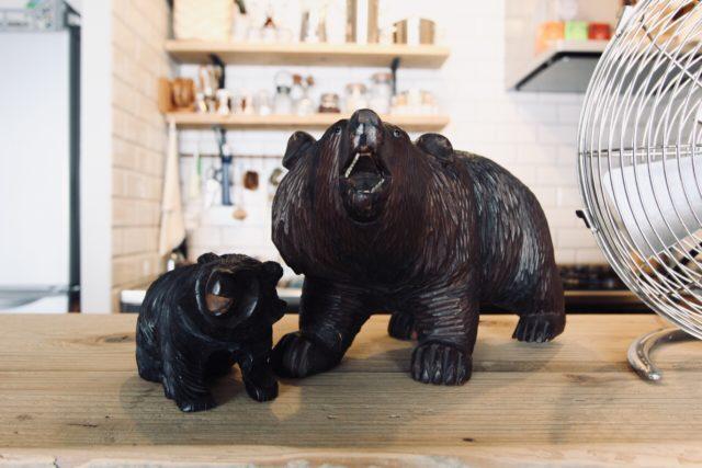 ヴィンテージの親子熊