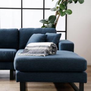 布地のソファ