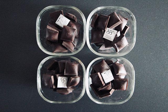 4種類のチョコを小分け
